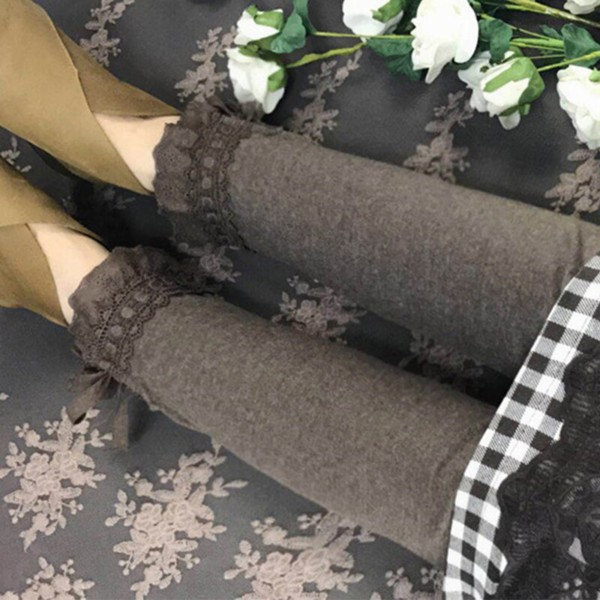 Spring Autumn Lace Layer Section Leggings Women Solid Color Bow Casual Sweet Elastic Waist Cotton Female Leggings Z040